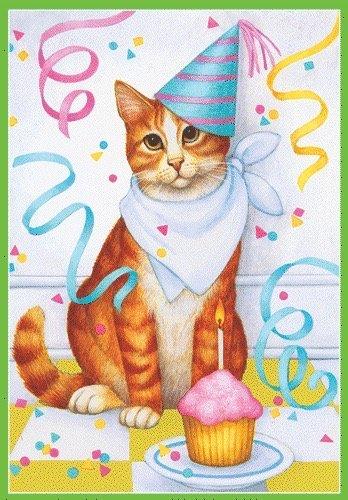 Cumpleaños tarjeta de cumpleaños gato y Cupcake 84589.01 ...