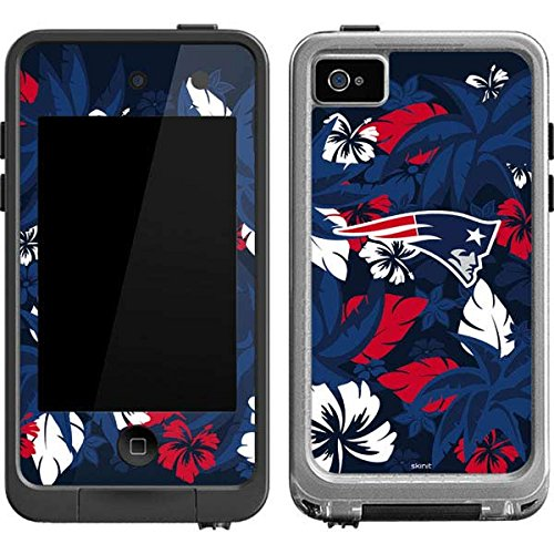 Skinit New England Patriots Tropical Print LifeProof fre iPod Touch 4th Gen Skin for CASE - Officially Licensed NFL Skin for Popular Cases Decal - Ultra Thin, Lightweight Vinyl Decal Protection