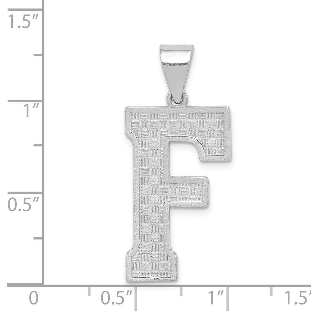 925 Sterling Silver Letter Initial F Charm