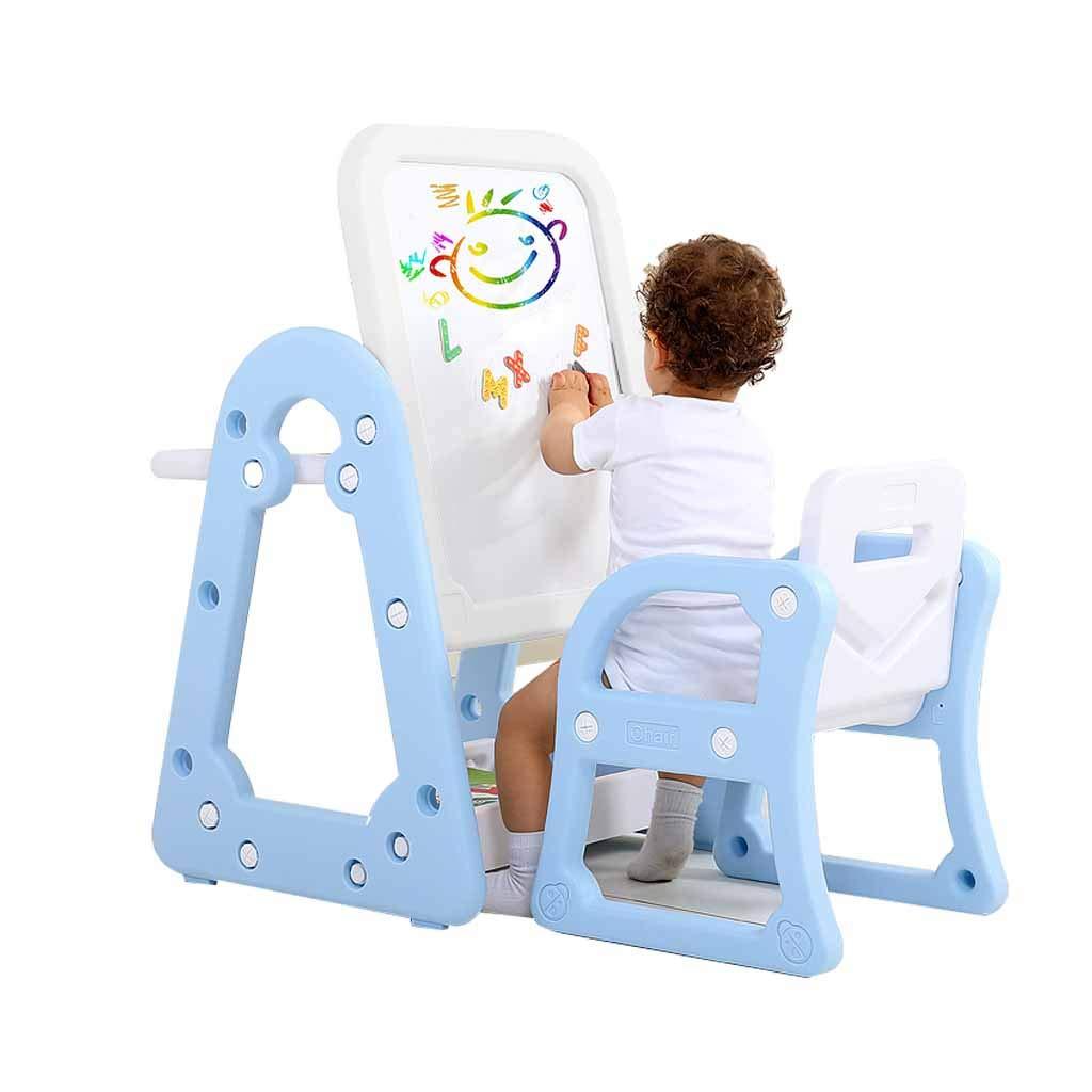 LING AI DA MAI Step2 Luxury Art Master Children's Easel Desk, Adjustable Height, Nano-dust-Free, Pinkluewhite by Furniture feet-DA