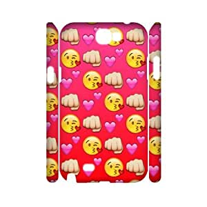 Wlicke emoji Customised Durable samsung galaxy note2 n7100 3D Case, High Quality Protective Phone Case for samsung galaxy note2 n7100 with emoji