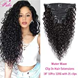 Water Wave Clip In Hair Extensions 8A Brazilian Virgin Remy Hair Water Wave