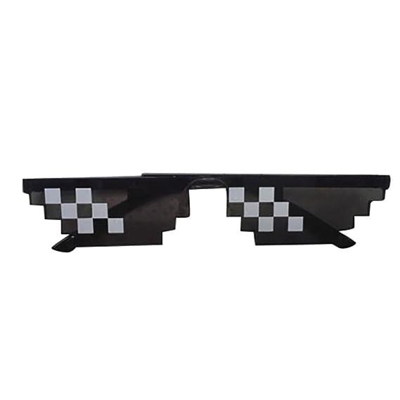 Amazon.com: Thug Life anteojos | Pixel 8 bits MLG Internet ...