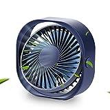 Ventilador USB, GLURIZ Ventilador de escritorio, 3 Niveles Velocidad del viento, Portátil Ventilador PC para Oficina/Hogar/Viajar/Acampar (Azul oscuro)