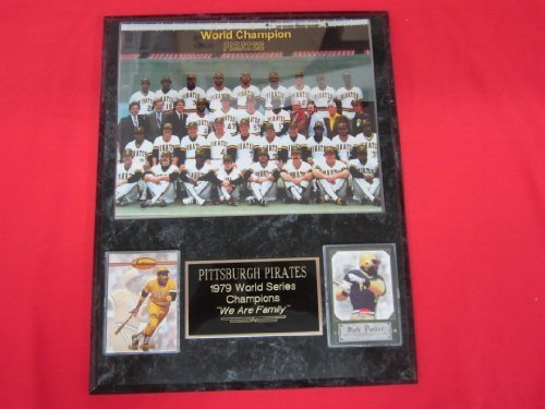 1979 Pirates World Series Champions 2 Card Collector Plaque w/ 8x10 Team - Champions World Series Pittsburgh Pirates