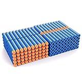 100 nerf gun bullets - AMOSTING Refill Darts 200PCS Bullets for Nerf N-Strike Elite Zombie Strike Rebelle - Blue