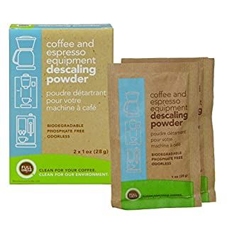 Urnex Full Circle Espresso Machine 2 Single Use Packets-Descaling Powder Safe On Keurig Delonghi Nespresso Ninja Hamilton Beach Mr Coffee Braun and More, 2 Ounce, Brown