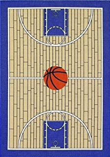 All Stars Basketball Ground Kids Rug Size: 4u00275