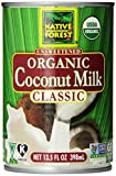 Native Forest Organic Classic Coconut Milk, 13.5 Ounce Cans (Pack of 12)