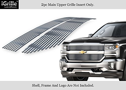 APS Fits 2016-2018 Chevy Silverado 1500 Reg Model Stainless Steel Billet Grille (Silverado Stainless Steel Billet Grille)