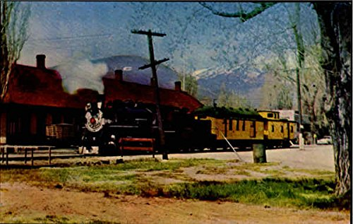 (Virginia and Truckee Railroad Trains Railroad Original Vintage Postcard)