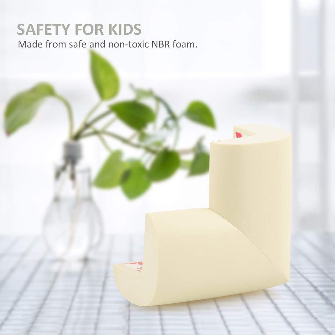 L-Shaped Brown PORUARY Soft Baby Proofing Corner Guards Edge Protectors 8 Pack with Pre-Taped 3M Tape Clear Corner Protectors Safe Corner Cushion