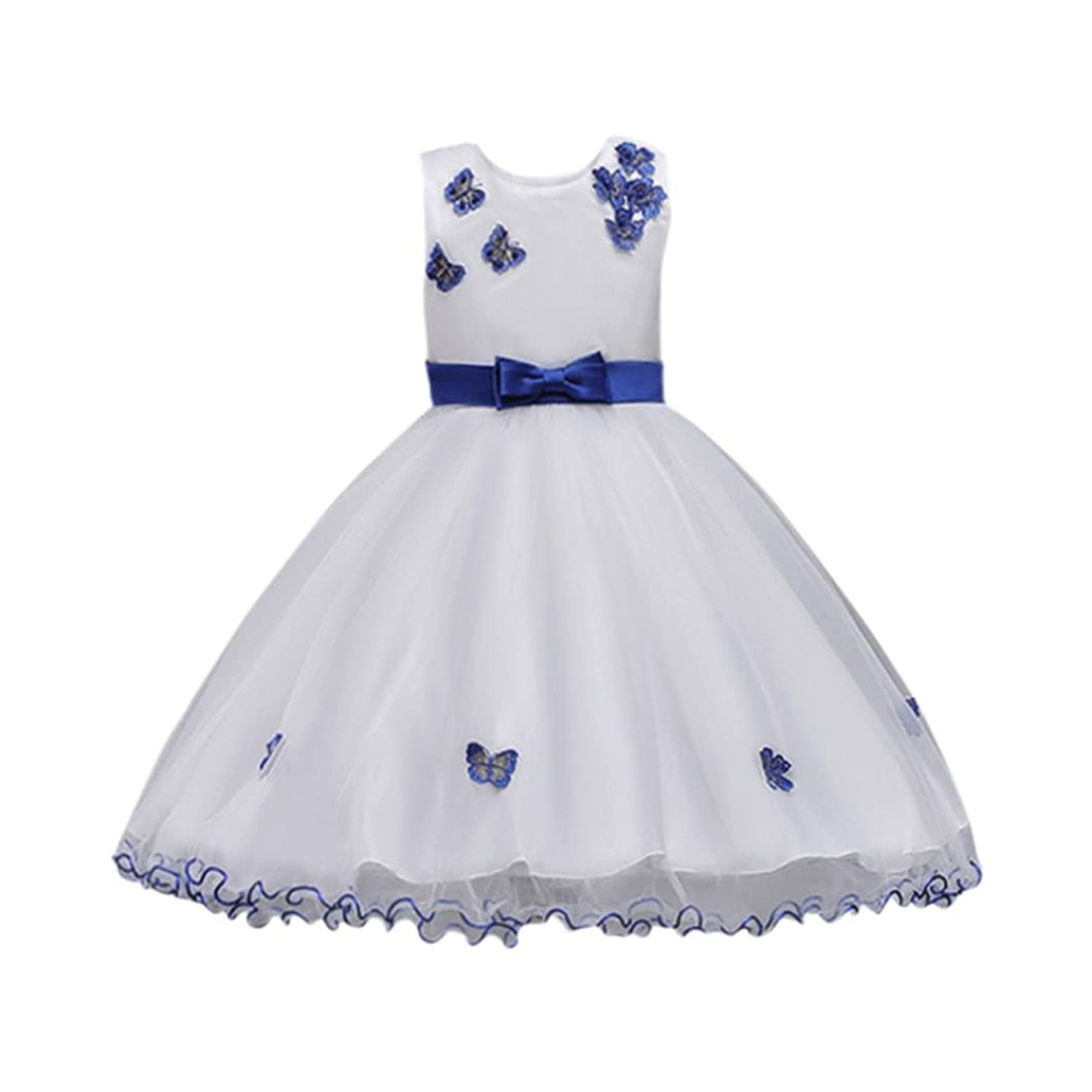 Fuibo Fuibo Mädchen Partykleid, Bow Baby Girl Prinzessin ...