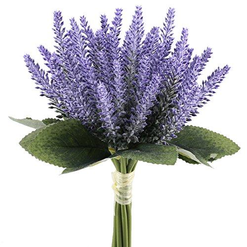 ManYee 8pcs Artificial Flowers Arrangements Fake Plastic Lavender Floral Wedding Bouquet for Bride Centerpieces PartyDining Table Living Room Decor (Carnation Wedding Centerpieces)