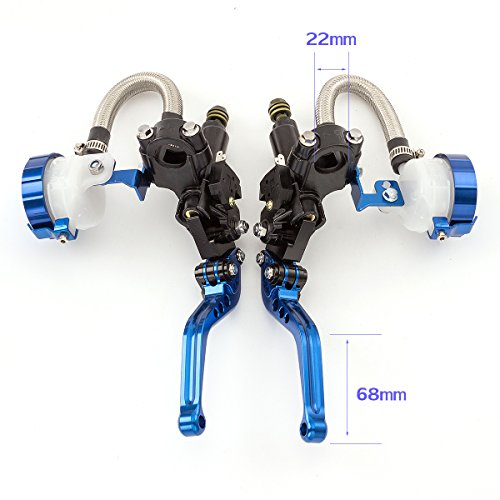 Rzmmotor Universal Motorcycle 7/8'' 22mm CNC Brake Clutch Master Cylinder Hydraulic Lever Reservoir Set for Ducati STREETFIGHTER 848 12-15, DIAVEL 11-15,Suzuki TL1000R 98-03,Yamaha XJR1300 99-03 by Rzmmotor (Image #1)
