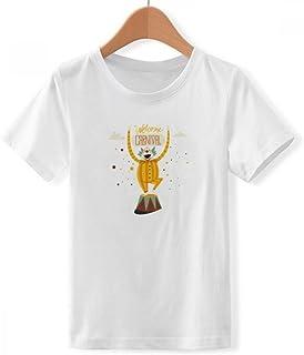 DIYthinker Jungen Clown Maske Glückliche Karneval von Venedig mit Rundhalsausschnitt Weißer T-Shirt DIYlab