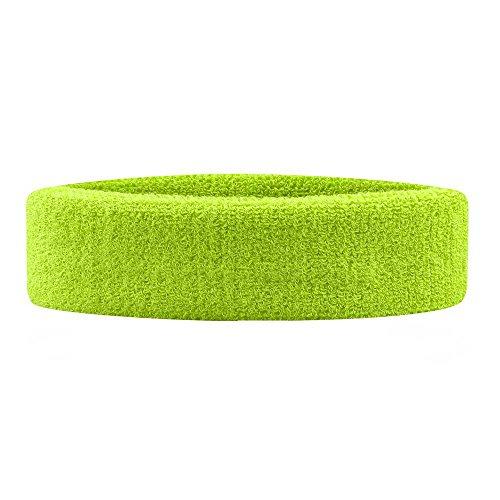 bandeau-tête Frottee Haarband Sport vielschwitzer Einheitsgröße Fluo Gelb