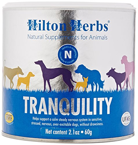 Hilton Herbs Canine Tranquility Supplement for Anxiety/Nerves/Stress, 2.1 oz Tub