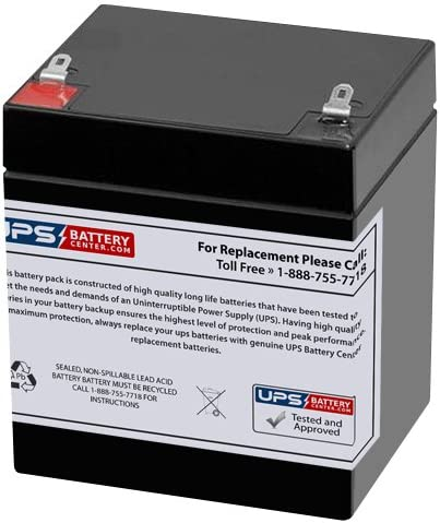 12V 5Ah F1 SLA Replacement Battery for CSB GP1245F1