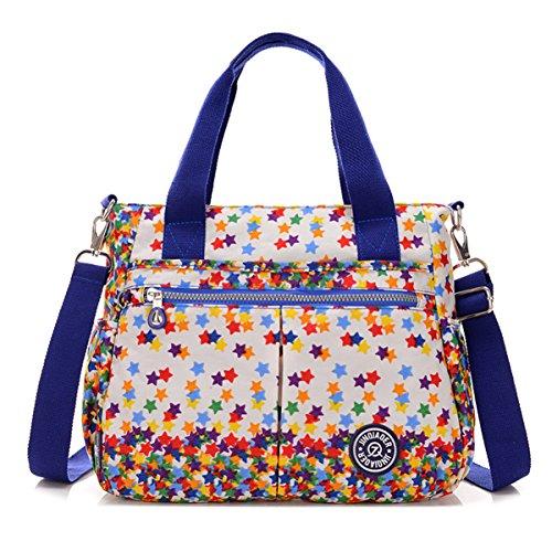 Bolso cruzado de Tiny Chou, resistente al agua, de nailon, bolsa con correa de hombro desmontable - Colorful stars