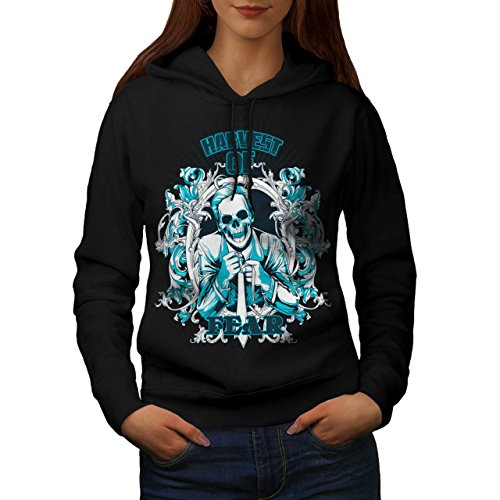 Harvest Of Fear Boss Skull Suit Women XXL Hoodie | Wellcoda (Mob Boss Tie)