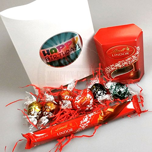 Lindt Ultimate Happy Birthday Pouch By Moreton Gifts , Lindt Lindor, Truffles