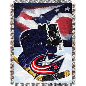 The Northwest Company Officially Licensed NHL Columbus Blue Jackets Homefield Ice Advantage Woven Tapestry Throw Blanket, 48
