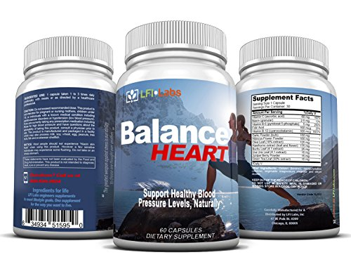 Balance Heart Blood Pressure Supplement — Your Natural Solution to (Cranberry 30 Tabs)
