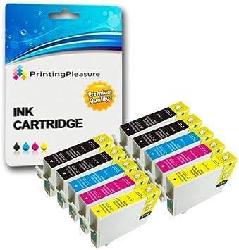 10 Druckerpatronen Für Epson Stylus Photo R240 R245 Rx400 Rx420 Rx425 Rx430 Rx450 Rx520 Kompatibel Zu Epson T0551 T0552 T0553 T0554 T0555 Bürobedarf Schreibwaren