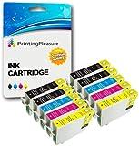 10 Compatibili Epson 16XL Cartucce d'inchiostro per Workforce WF-2010W WF-2510WF WF-2520NF WF-2530WF WF-2540W WF-2630WF WF-2650DWF WF-2660DWF - Nero/Ciano/Magenta/Giallo, Alta Capacità