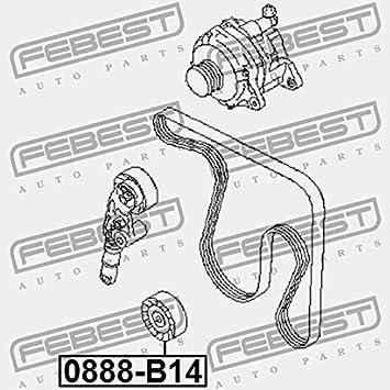 Pulley Febest 0888 B14 Amazon Co Uk Car Motorbike