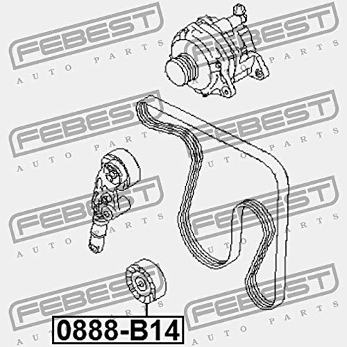 Pulley Febest 0888 B14 Amazon Co Uk Car Motorbike