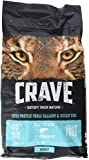 Crave Grain Free Dry Cat Food with Protein From Salmon and Ocean Fish Bag with Bonus Magnetic Feeding Guidelines, 2 lb (Pack of 2) Larger Image
