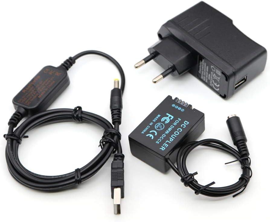 5V-8.4V Power Bank Cable USB DMW-AC8 + DMW-DCC6 Acoplador DMW-BMB9 para Panasonic MC-FZ40K FZ45K FZ47K FZ48K FZ60 FZ62 FZ70 FZ72 FZ80 FZ82 FZ100K FZ150K