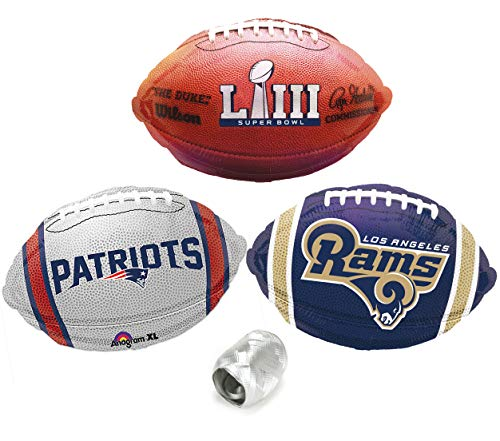 AFC NFC Championship Super Bowl Face Off Football Mylar 4pc Balloon Pack]()