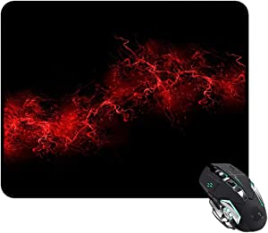 Mouse Pads Black Background Red Color Paint Explosion Burst Red Black Rectangle 240x200x3mm at Colored Cases Store