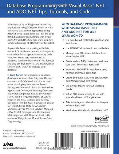 Database Programming with Visual Basic  NET and ADO NET