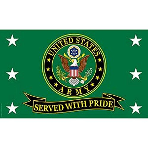 FindingKing United States Army Served with Pride Flag 3ft x 5ft
