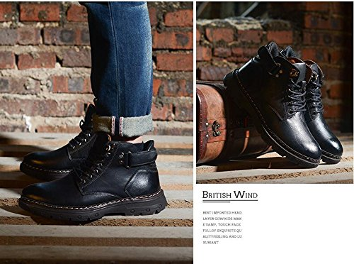 Winter Autumn Fashion Casual Shoes Boots Casual Men's Plus Black and Jackdaine Cashmere Leather a0XqU1pWw