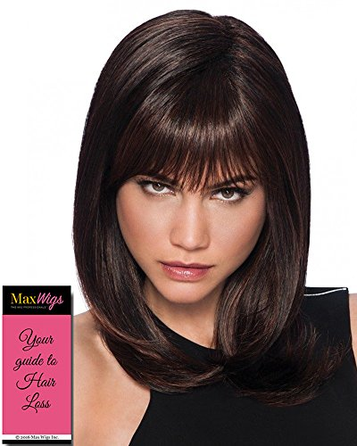 - Long with Layers Wig Color R4 MIDNIGHT BROWN - Hairdo Wigs Layered Lengths Bangs Tru2Life Heat Friendly Synthetic Capless