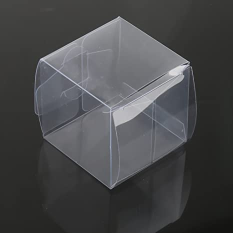 ma-on 50pcs Transparente Caja de regalo Candy Chocolate cajas de embalaje para boda fiesta