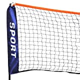 LYNCOL Mini Badminton Net, Tennis Nets, Volleyball Net With Frame Stand Foldable (3 M)