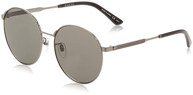 Gucci GG0206SK 002 Gafas de sol, Gris (2/Grey), 58 para ...