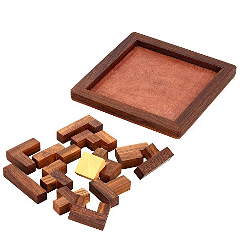 ShalinIndia Handmade Indian Wood Jigsaw Puzzle - Wooden Toys for Kids - Travel Games for Families - Unique Gifts for Children by ShalinIndia (Image #3)
