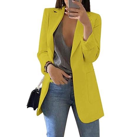 Ohwens 2019 Nuevo Blazer Para Mujer De Vestir Casual Delgado