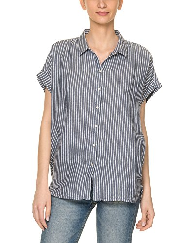 Only Women's Prime Loose Women's Blue Shirt With Stripped Pattern In Size 36 Blue
