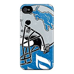 Protective Tpu Case With Fashion Design For Iphone 4/4s (detroit Lions)