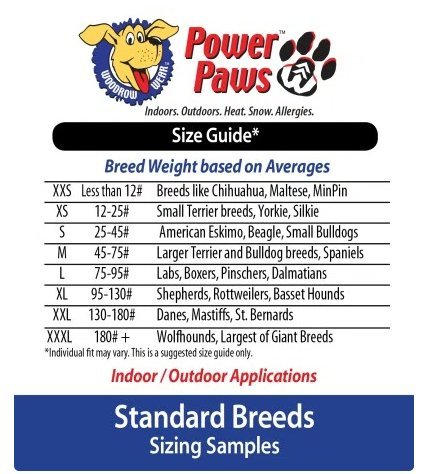 Woodrow Wear Power Paws Advanced Greyhound Large Black/Grey