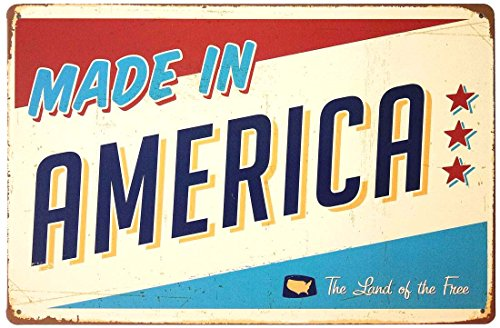 - ERLOOD Made in America Retro Vintage Tin Sign 12x 8
