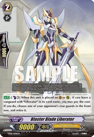 Cardfight!! Vanguard TCG - Blaster Blade Liberator (TD08/006EN) - Trial Deck 8: Liberator of the Sanctuary